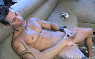 alexy kicks back, copulates his bed and rubs his