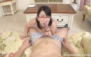 tit-fuck and blow job with japanese d like to fuck