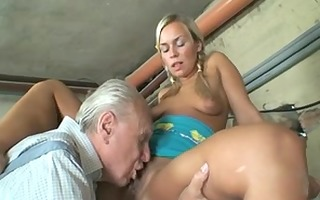 granny couple having a nice one with youthful