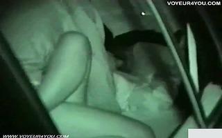 concupiscent cutie night fucking in car seat