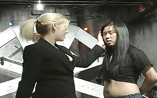 villein gagged and cum-hole whipped