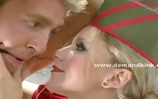 golden-haired breasty dominant-bitch tortures her