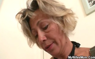 hawt mother-in-law sucks and rides his slutty