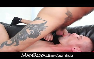 manroyale waking the roomate to plough his a-hole