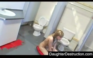 youthful daughter drilled