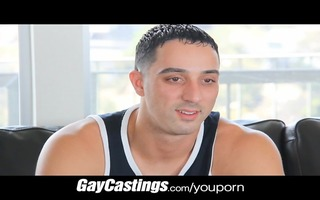 gaycastings uncut guido takes schlong for st time