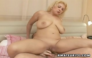 bulky dilettante wife fucking with facial jism