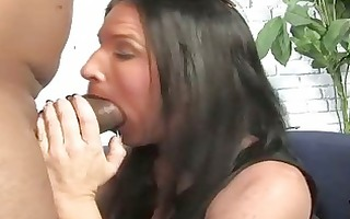 brunette mother acquires boned by a big darksome