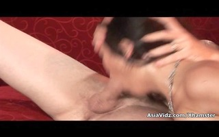 sexy oriental whore in hose gives mouth and