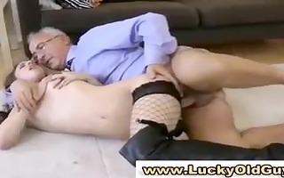 european hottie in nylons gets screwed and sucks