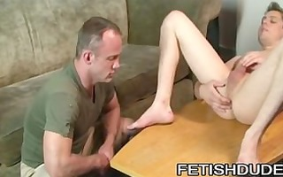 chris kohl: youthful booty examined by a lustful