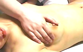 touching young asian wet cracks ......... as a