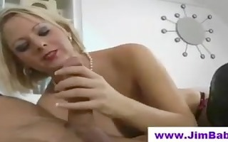 golden-haired in boots fucking an old chap