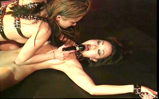 oriental bdsm floozy nipples clamped and doxy tied