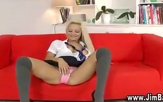 hot schoolgirl in nylons and hot heels