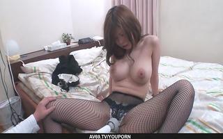 large titted kyoko suzuki rides shlong in pov