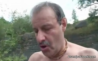 superb honey rides grandpa&#620 s pounder in