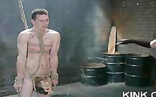 breasty barmaid fastened