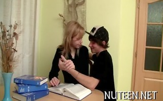 bewitching legal age teenager engulfing
