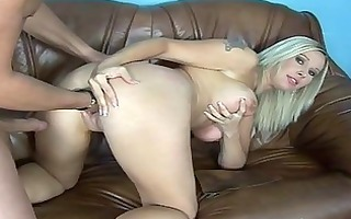 busty mother i receives double booty fuck