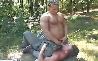 muscled homo studs having joy outdoor