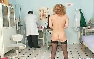 slender milf nora gyno clinic exam by perverted