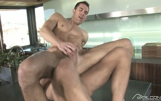 dylan hauser takes spencer foxs large dick in his