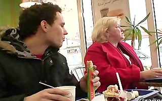 ramrod hungry grandma is pounded