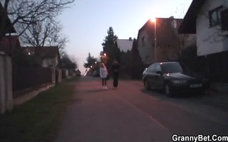 old grandma is picked up for a nice fucking